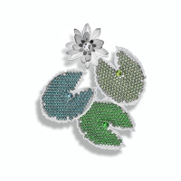 18kt White Gold w/ Diamond, Emerald, Tourmaline, Peridot