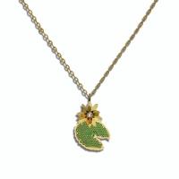18kt Yellow Gold w/ Diamond, Emeralds