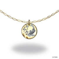 18kt yellow/white gold, diamonds